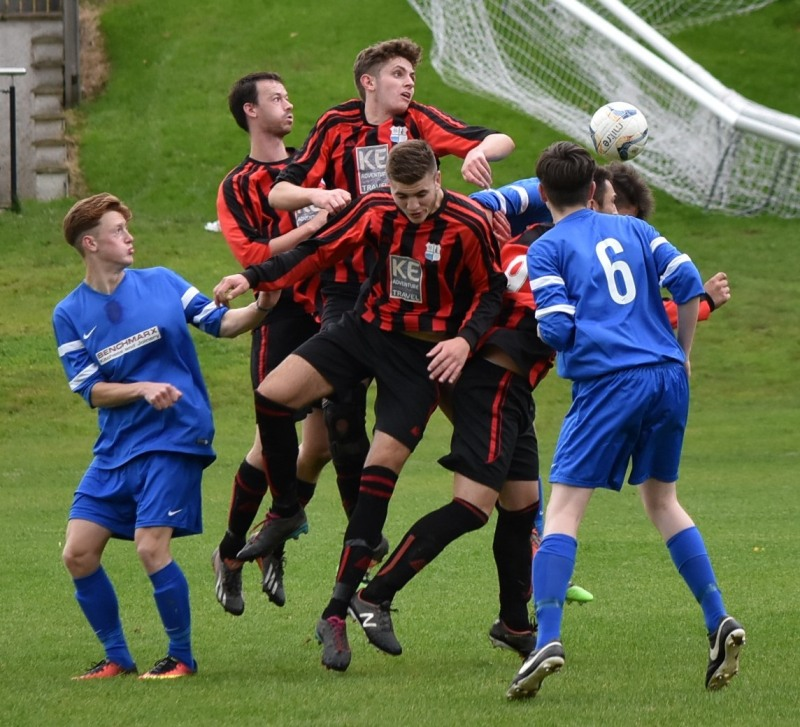Keswick Reserves v Castletown United - Mike Graham on top (Ben Challis)