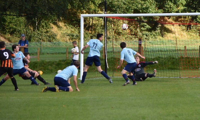 Robinson makes it 3-1 to Keswick against Sedbergh (Ben Challis)
